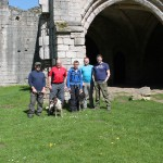 3rd May 2014 - The lads walking around the Roache Abbey area.