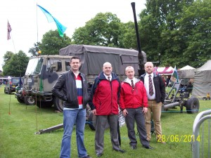The lads at armed forces day.
