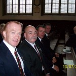 Some of the lads during the Newark church service.