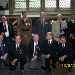 13th July 2014 - The lads with the 3WFR Colours on return to Newark church.