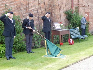 Clumber Park Gardener's Memorial Service To Two WW1 Soldiers Who Were Gardeners at Clumber Park